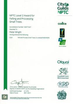 Certificate Felling